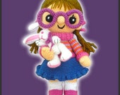 Amigurumi Pattern Crochet Chloe Doll and Bunny DIY Instant Digital Download PDF