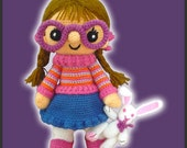 Amigurumi Pattern Crochet Chloe Doll and Bunny DIY Digital Download