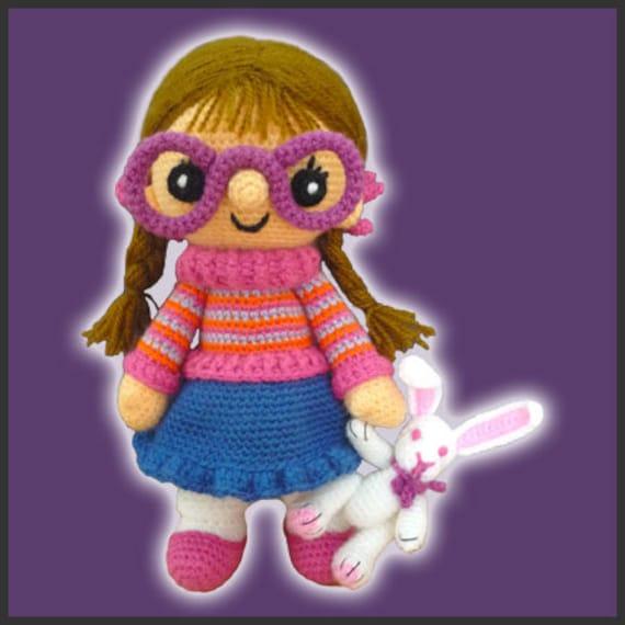 Amigurumi Pattern Crochet Chloe Doll and Bunny DIY Digital
