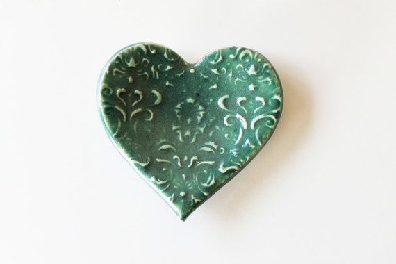 Clay Heart Ring Dish, Spoon Rest or Trinket Dish