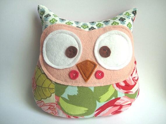 Patchwork Owl plush toy