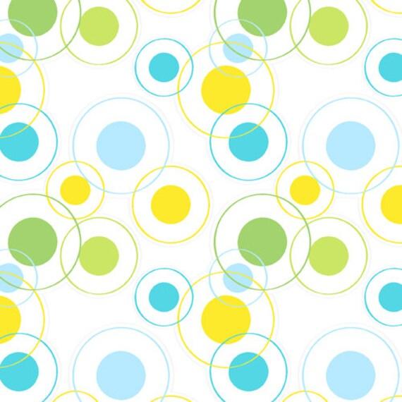 "Thomas Knauer, Savanna Bop, Circles Color ""B"" Fabric - By the Yard"