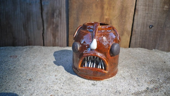 The Mighty Angler Fish Handmade Stoneware Vase