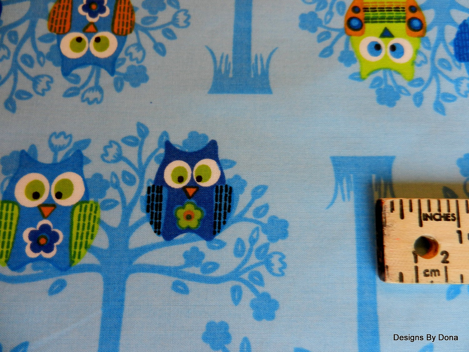 One yard cut quilt fabric sale clearance owls in trees for Clearance craft supplies sale