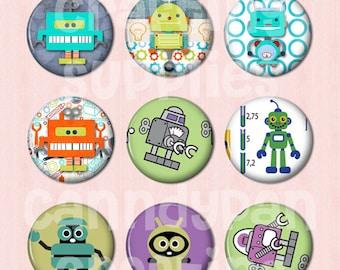 15 Robot Buttons