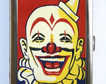 Clown Cigarette Case Wallet Business Card Holder circus sideshow performers freaks