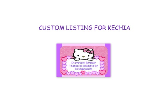 Custom Listing for KECHIA - INSPIRED Hello Kitty Candy Bag Labels