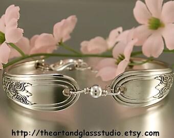 Silver Spoon Bracelet FORTUNE Jewelry Vintage, Silverware, Gift, Anniversary, Wedding, Birthday