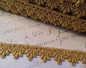 Metallic Gold Venise Lace  Trim 1/2 inch wide