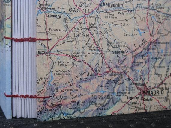 Spain Map Travel Journal