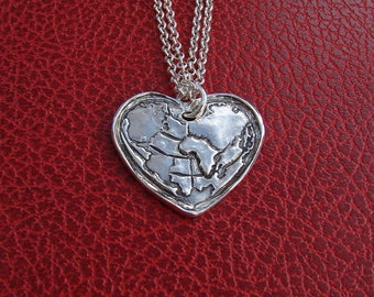 Africa-My World-My Heart  One of a Kind necklace