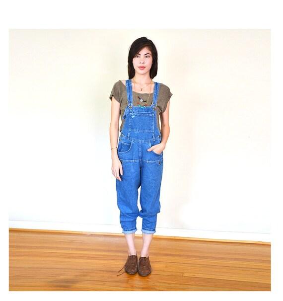 vintage denim overalls xs