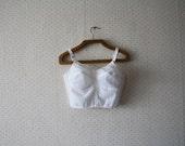 vintage 1970's romantic lace corset lingerie bra