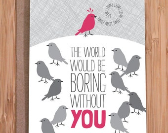birthday card / birds