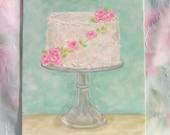Art Cake Painting Shabby