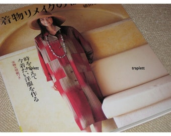 Japanese Craft Pattern Book  Sewing Clothes for Women with kimono fabric