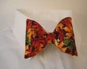 SALE - Autumn Leaves Bow Tie