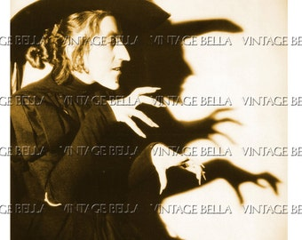 Vintage Halloween Wicked Witch of the West Margaret Hamilton - Digital Download 298 - by Vintage Bella