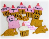 Laineys Kitty Birthday  Cookies