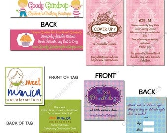 Backside design of any custom design OR tiling it on a Sheet OR Add a fold to a clothing label - Add on