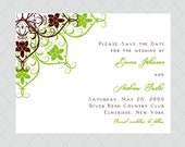 Orchid Vine Save the Date Cards