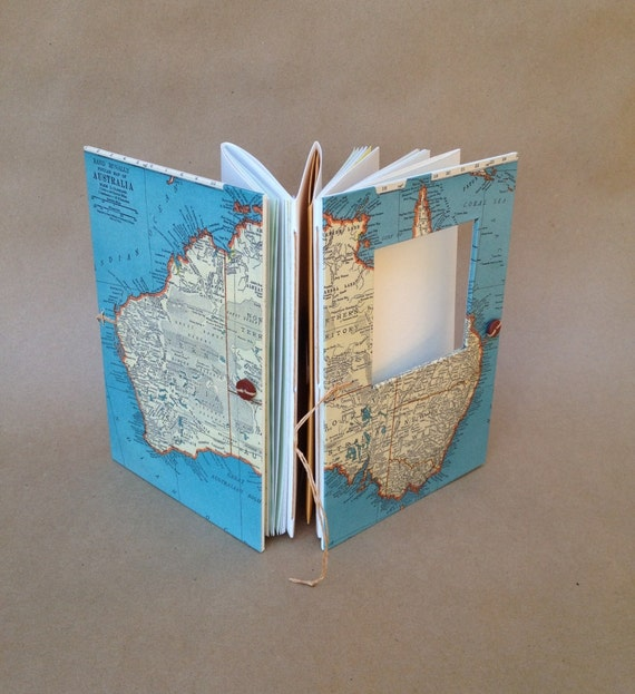 Australia Travel Journal - Notebook with Pockets and Envelopes - Personalized for You