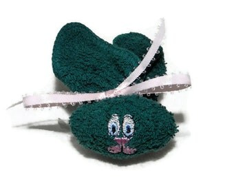 Boo boo Bunny Ice Pack Baby TEAL Boo-boo Embroidery Baby Basket