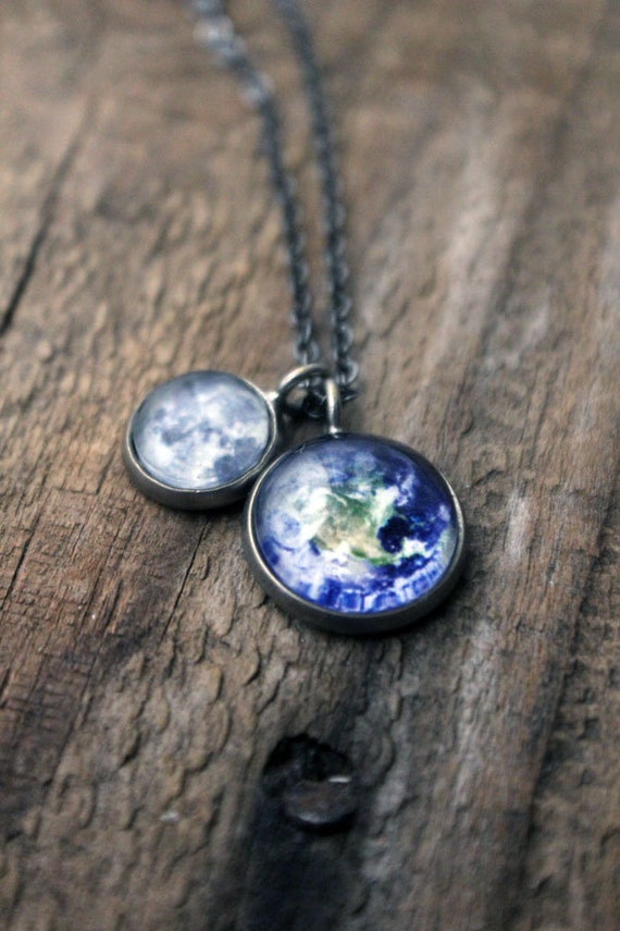 Earth and moon pendants