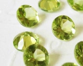 Gemstones Faceted Peridot Billiant Cut AAA 4mm FOR TWO