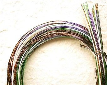 Mizuhiki Japanese Decorative Paper Cords Purple And Multi Color