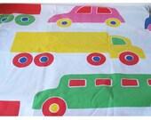 Vintage Flat Sheet - Twin Flat Sheet - 1975 Marimekko PIKKU BO BOO -  Dan River