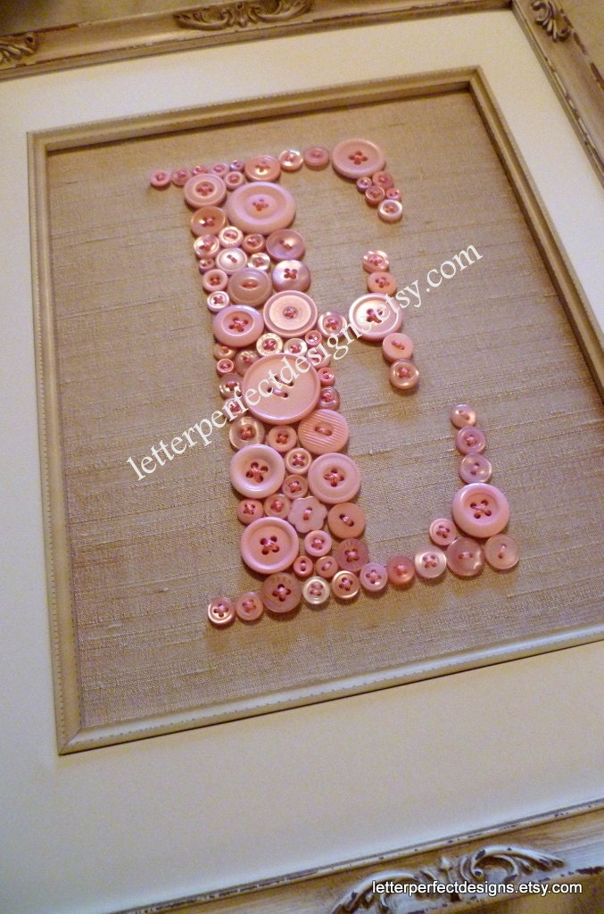 Personalized Baby Nursery Letter Art By Letterperfectdesigns