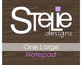 Personalized Large Notepad - Design of your choice