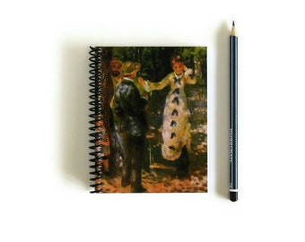 The Swing, Notebook, Writing Journal, Diary Journal, Back to School, Impressionist Art, Sketchbook, Pocket Journal, A6, Blank Notebook
