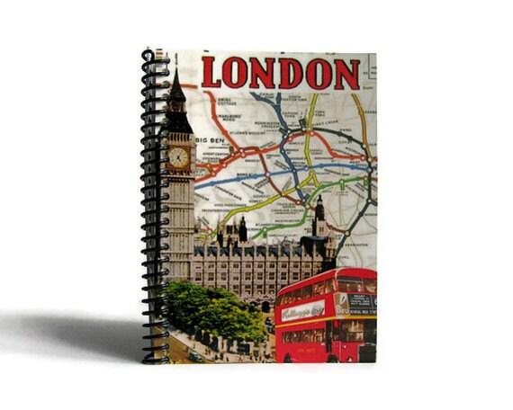 London Retro - Notebook Spiral Bound - 4x6in