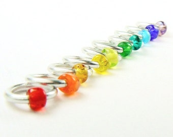 Rainbow Connection (US8) - Eterne Stitch Markers (snagfree)