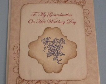 To My Grandmother On Her  Wedding Day   Wedding Day Card