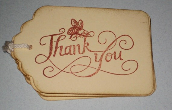 8 Thank You Bee Gift Tags