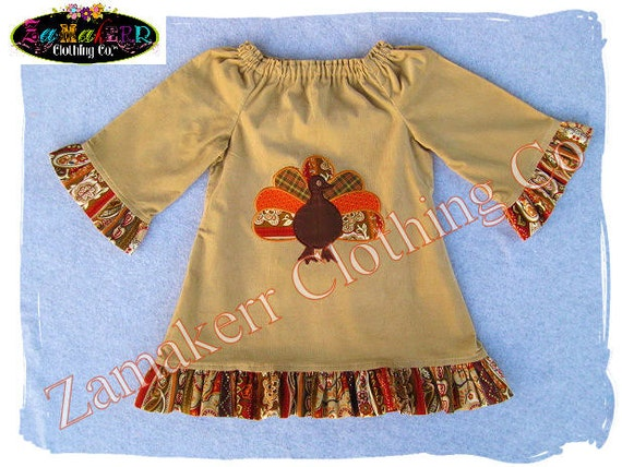 Items similar to Girl Fall Thanksgiving Turkey Dress