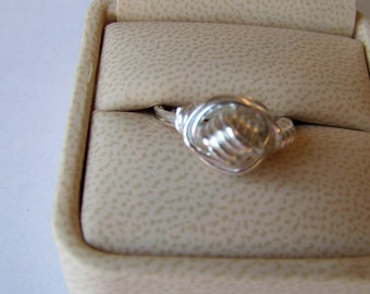 Wire Wrapped Coiled Knot Ring