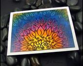 Beadworx - Blank - Single - Note Card with envelope- Original Fine Art Print -  Gypsy Lotus