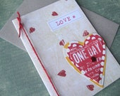 LOVE card - Collage Greeting Card - LOVE Sweet Blank card Wedding, Anniversary, Friendship