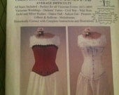 Laughing Moon Mercantile Ladies Victorian Underwear Pattern 2 Corsets Chemise Drawers OPENED