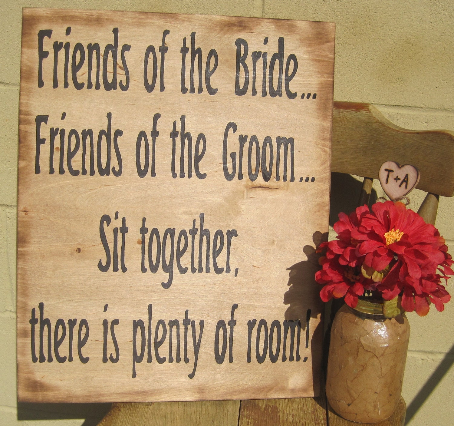 Rustic Wedding Sign Xlarge Directional By Dlightfuldesigns