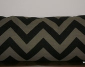 Decorative Body Pillow Cover FREE DOMESTIC SHIPPING -Approx 20 X 54 inch Black and Stone Chevron