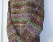 Hand Knitted Silk - Wool Sweater/Tunic Style - Knit in NORO yarns - On SALE 100.00 - Ends NOVEMBER 7th