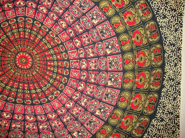 boho hippie tapestry fabric mandala by sticksandstoneshemp1. Black Bedroom Furniture Sets. Home Design Ideas