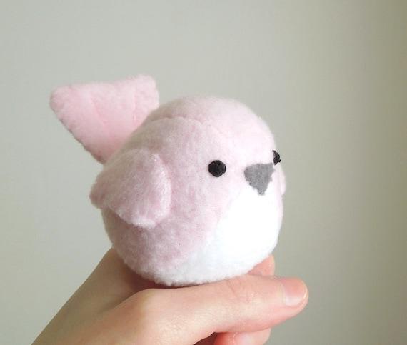 Light Pink Bird Stuffed Animal Plush Toy