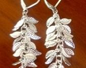 Sterling Silver Leaves Earrings-Custom