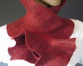 Flamenco Felted Scarflette Brick Red